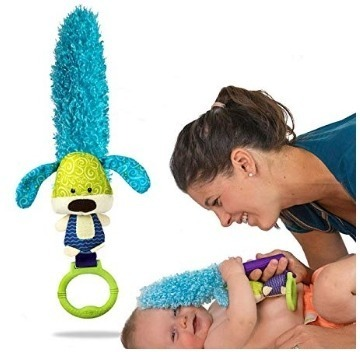 This is an image of baby toy puppy multi purpose in blue color