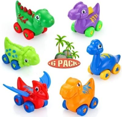 This is an image of baby dinosaur cars
