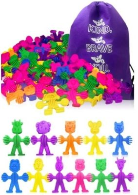 This is an image of buddies in bag toys with multi colorful colors