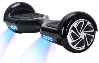 This is an image of black hoverboard for kids with bluetooth