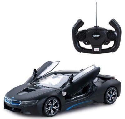This is an image of toddler bmw remote control black car