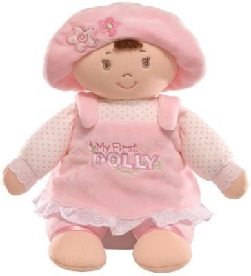 This is an image of pink doll plush