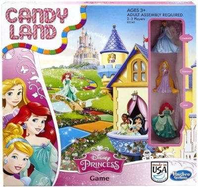 This is an image of baby girl disney princess board game named candy land