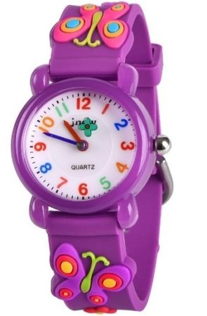 This is an image of girls of classic purple watch
