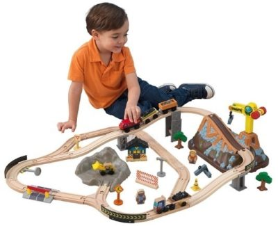 This is an image of kids construction train set