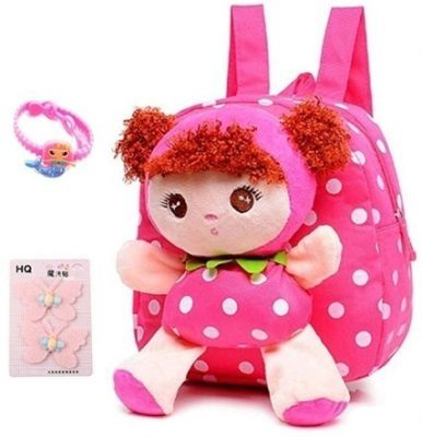 This is an image of girls cute backpack in pînk color