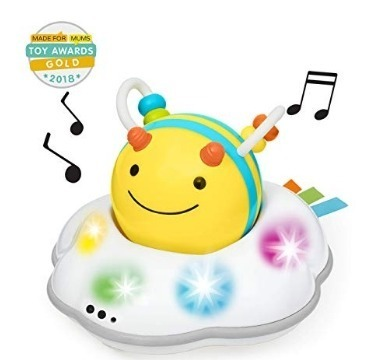 This is an image of baby explore and follow me be toy with music and in yellow and white colors