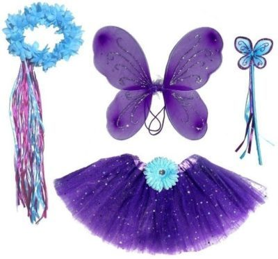 This is an image of baby girl fairy cloths in purple color