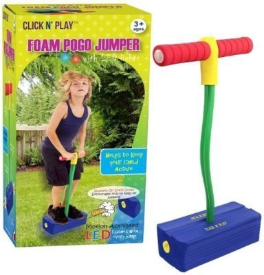 This is an image of foam pogo jumper in blue color for kids