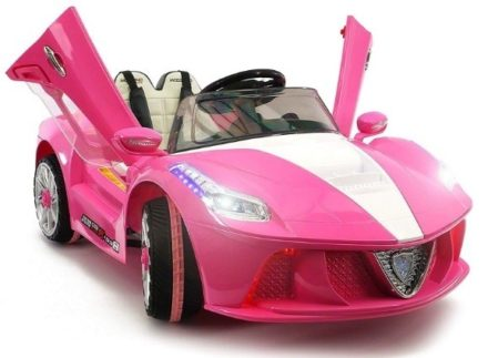 This is an image of girls sport kids car in pink color