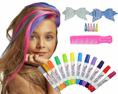 This is an image of girls hair chalk salon for girls