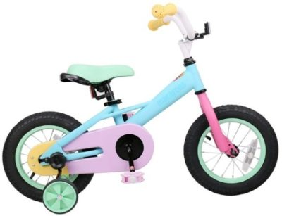 This is an image of girls bike 12 inches in beautiful colors