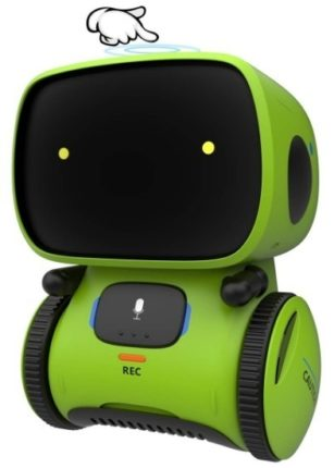 This is an image of kids robot interactive robot in green color