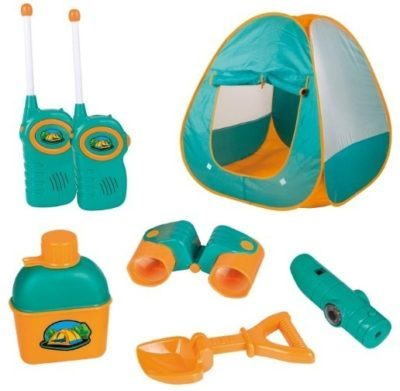This is an image of kids tent camping set in blue color