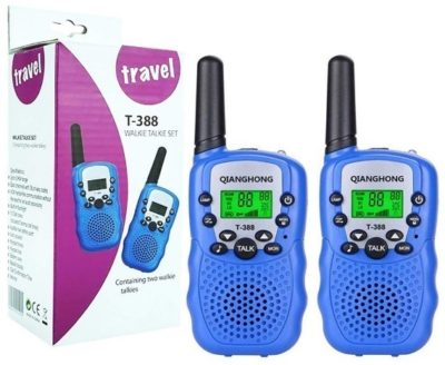 This is an image of kids walkie talkies for kids by qianghong in blie color