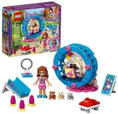 This is an image of girls lego friends olivias hamster playground building kit