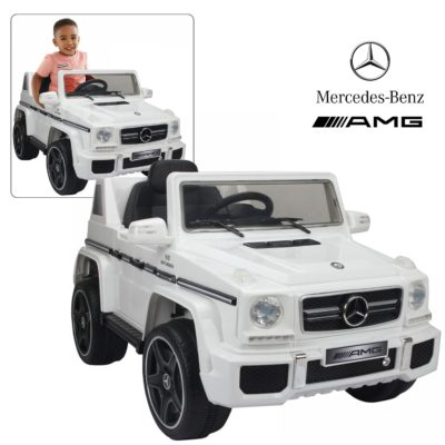 This is an image of mercedes benz with remote control for kids in white color