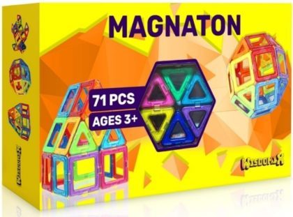 This is an image of kids magnetic building blocks set