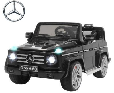 This is an image of kids mercedes benz amg electric powered wheels in black colors