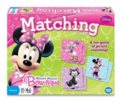 This is an image of girls minnie mouse matching game