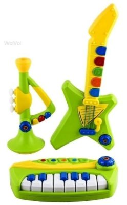 This is an image of baby musical toy instruments in green color