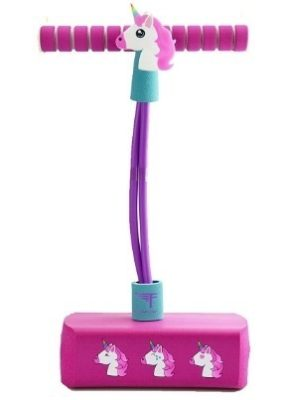 This is an image of baby girls pogo pals jumber in purpler and pink color has a unicorn designs