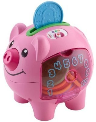 This is an image of baby pink piggy bank