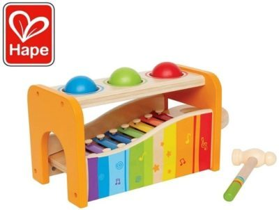This is an image of baby tap with slide out xylophone