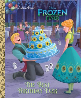 This is an image of girls frozen disney book named the best birthday ever