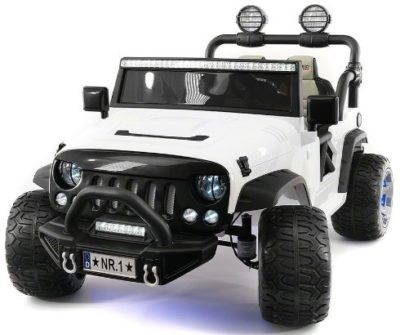 This is an image of kids truck battery powered led wheels in white color