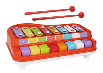 This is an image of a mini colorful xylophone and piano for toddlers.