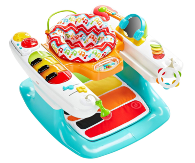 This is an image of a colorful hand and feet toddler's keyboard.