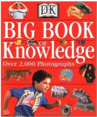 This is an image of boy's big book knowledge