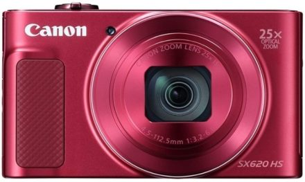 This is an image of teen's Canon Digital Camera powerShot in red color