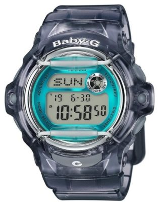 This is an image of boy's casio classic watch G baby in gray color