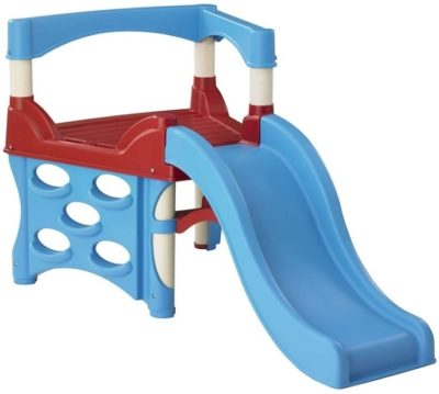 This is an image of toddler's first climber with slide in blue and red colors