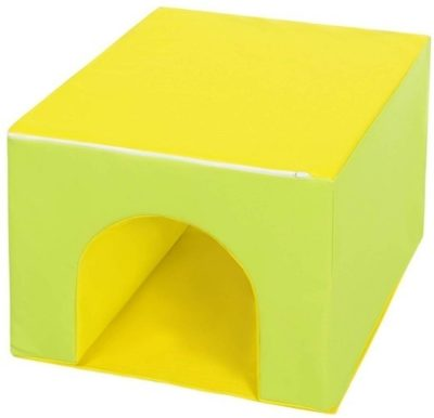This is an image of toddler's climbing gym toy in yellow color