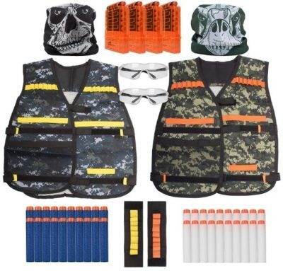 This is an image of boy's nerf vest set