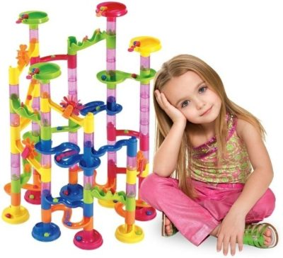 This is an image of girl's building blocks in colorful colors