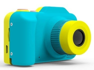 This is an image of boy's Digital Camera in blue and yellow colors
