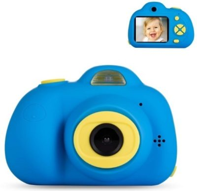This is an image of boy's ddigital carema with 16 GB SD card in blue color