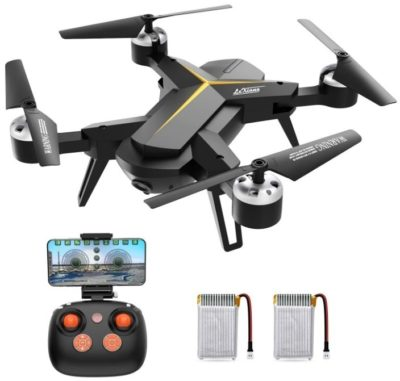 This is an image of kid's drone with 1080P HD camera in black colors