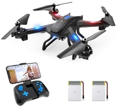 This is an image of kid's drone with camera in HD 720P in black color