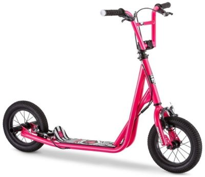 This is an image of girl's scooter in pink color