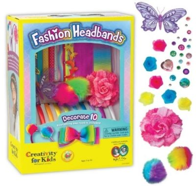 This is an image of girl's fashion headbands craft kit in colorful colors