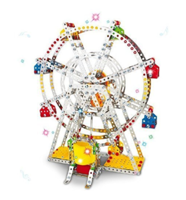 This is an image of a colorful ferris wheel building set for kids.