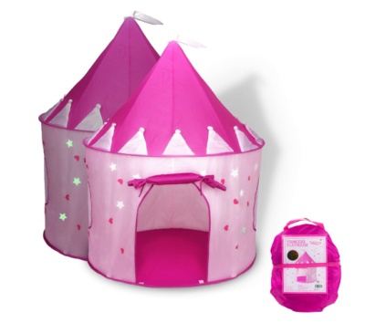 This is an image of a pink playhouse tent for little girls.