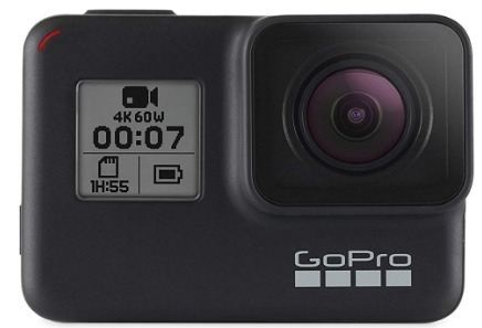 This is an image of teen's GoPro version Hero7 in black color