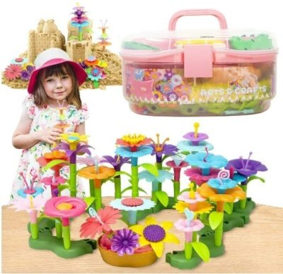 This is an image of girl's art and craft garden toys in colorful colors