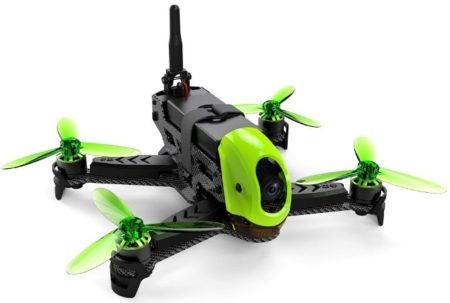 This is an image of kid's racing drone in black and green colors